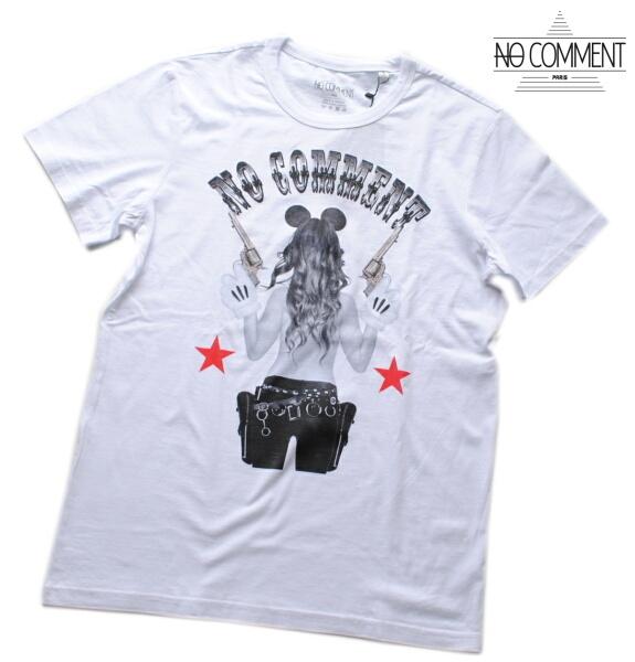 NO COMMENT PARIS ノーコメント パリ Tシャツ 半袖 クルーネック Tシャツ メンズ 正規販売店 LTN200 ホワイト