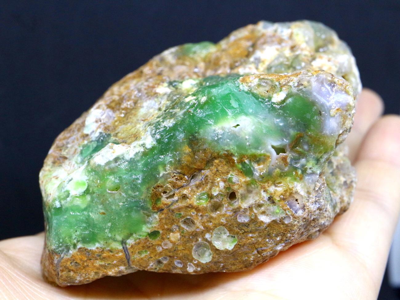クリソプレーズ 緑玉髄 オーストラリア産  196,4g CSP002  原石 天然石 鉱物