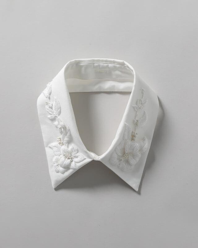 【付襟】オートクチュール刺繍フラワー(※受注生産:約.1.5ヵ月~2ヵ月)
