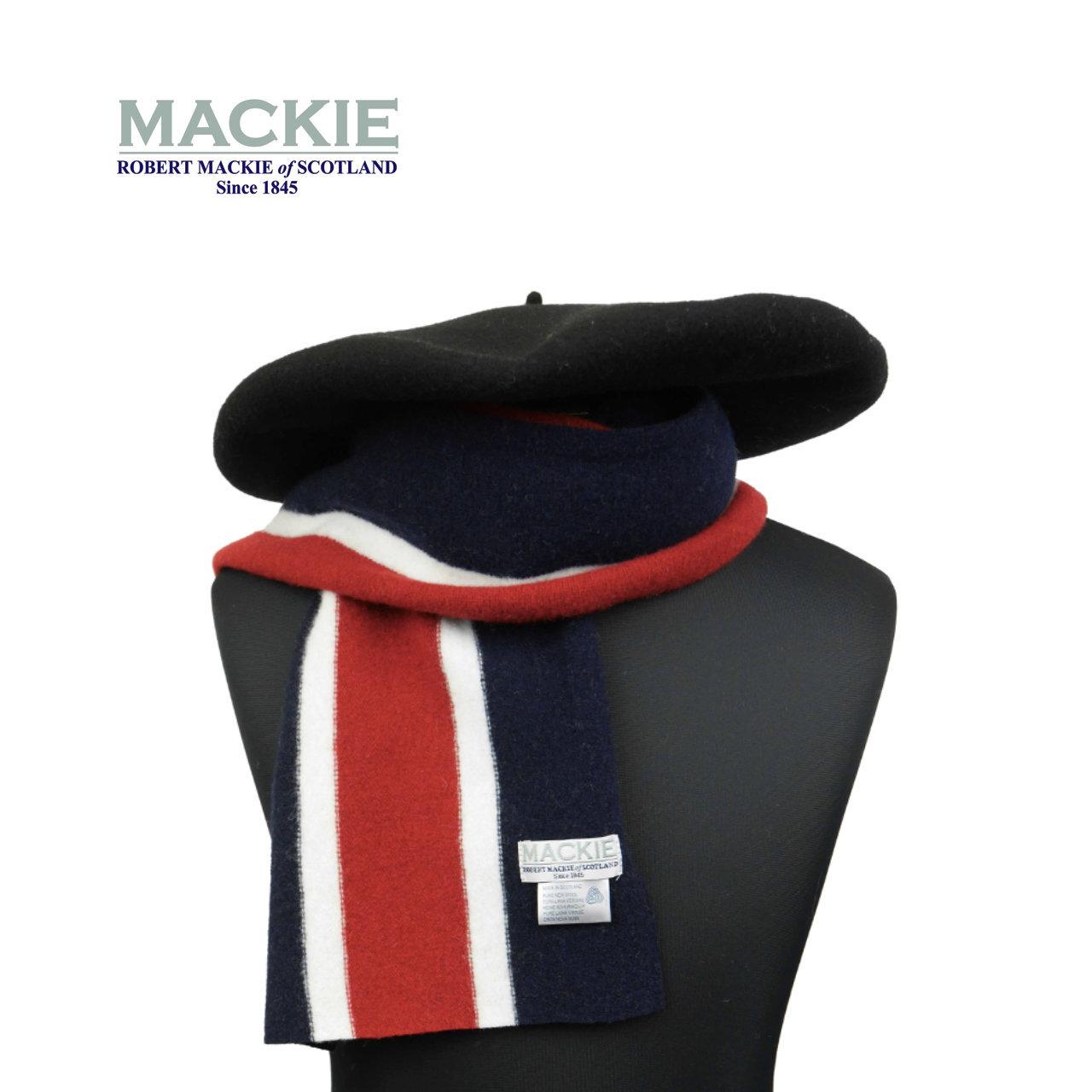 ROBERT MACKIE 英国製 スクールマフラー Or Glory 別注 〈Navy〉