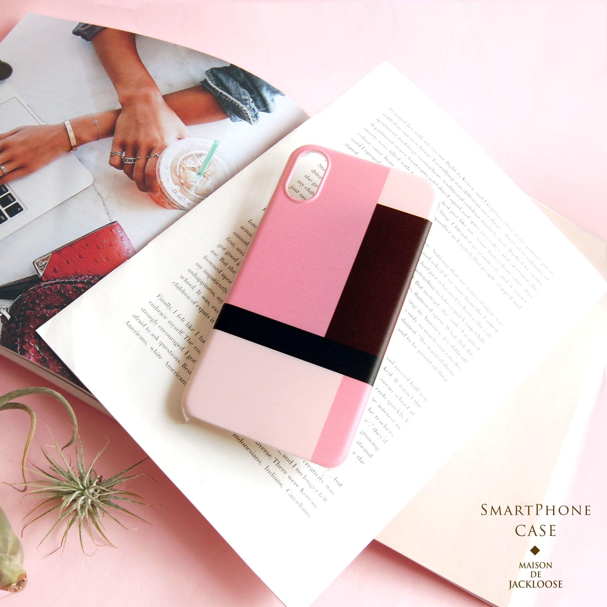 【スマホハードケース】上品なモンドリアン調デザイン・iPhone Xperia AQUOS Galaxy etc 多機種対応