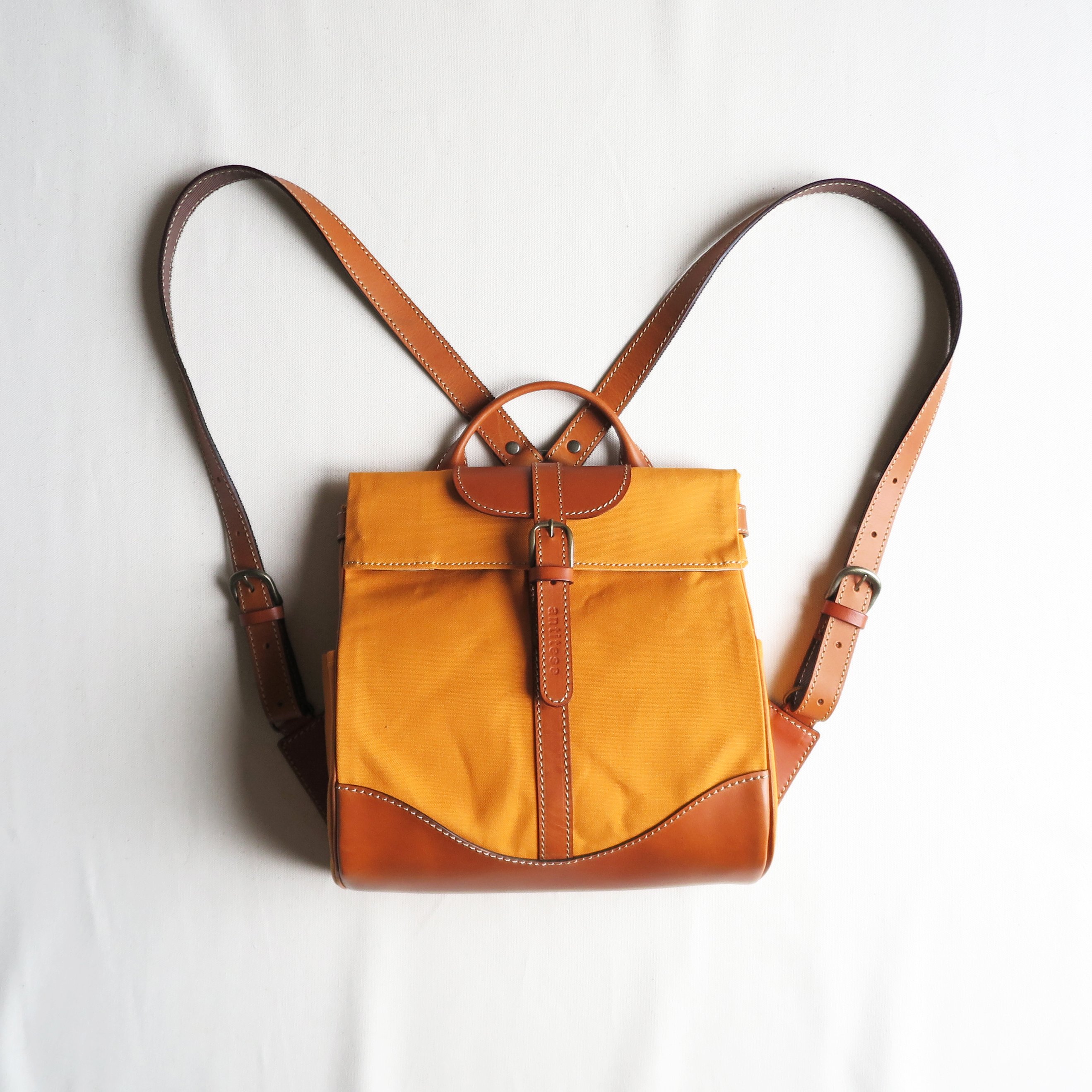 Paraffin canvas back pack「Escargot」mini  ORANGE