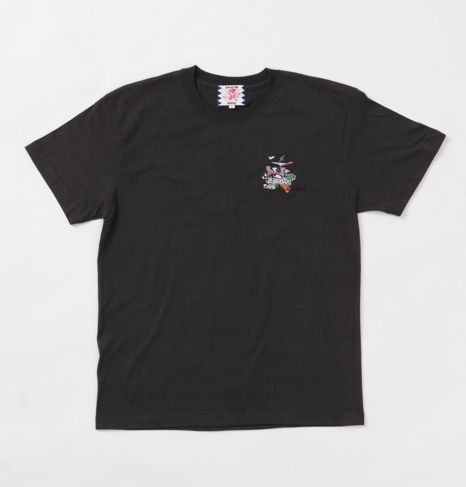 【SON OF THE CHEESE】EMBROIDERY TEE(BLACK)