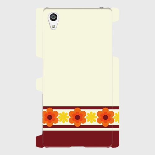 昭和デザイン花(橙・黄) / Androidスマホケース(ハードケース)