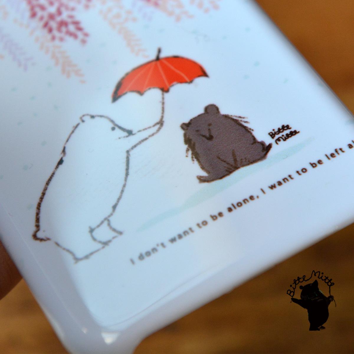 【訳あり】iphone8 ケース ハード iphone8 ハードケース かわいい iphone8 ケース シンプル おしゃれ くま クマ 雨が降る/Bitte Mitte!【bm-iph8-08211-B1】