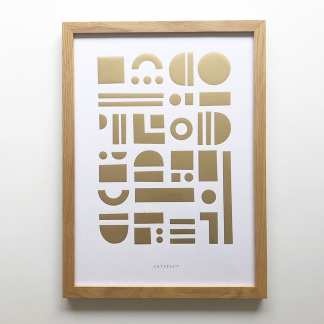 Tom Pigeon -Artefact Brass- トムピジョン A3アートポスター(フレーム付き)