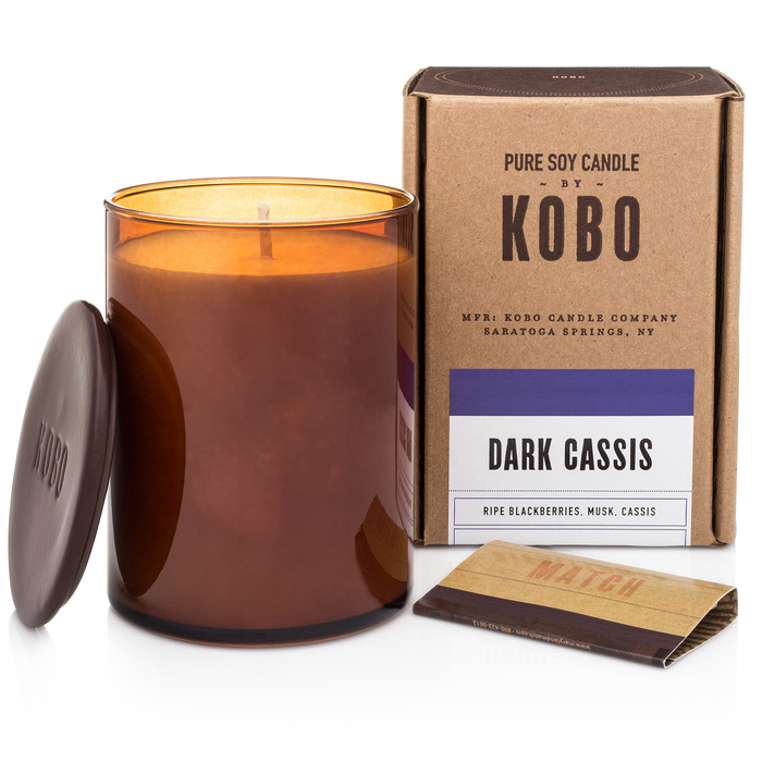 DARK CASSIS - WOODBLOCK CANDLES