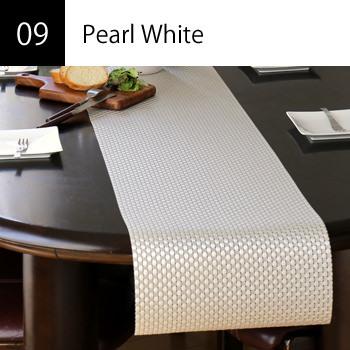 テーブルランナー Pearl White
