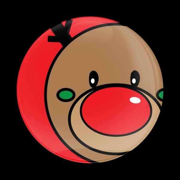 ゴーバッジ(ドーム)(CD0660 - Seasonal RUDOLPH) - 画像1