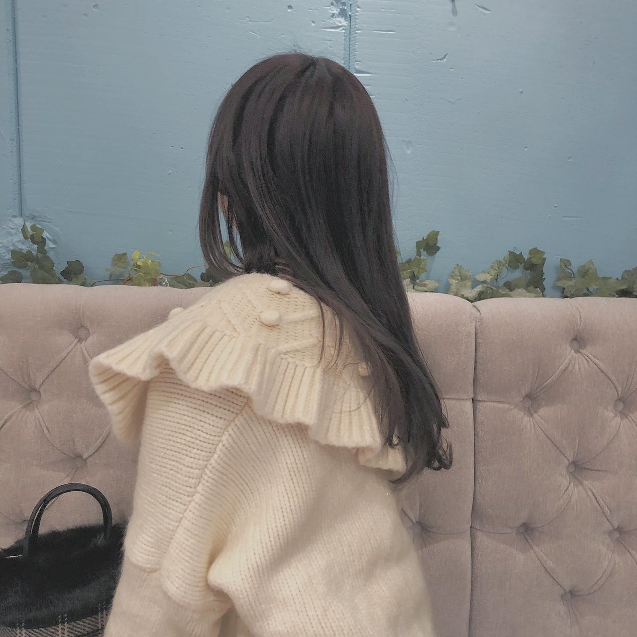 ponpon knit cardigan (blue/ivory)