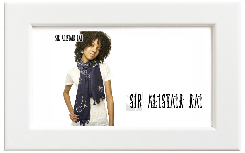 Sir Alistair Rai/サー・アリステア・レイ Navy Love Raja Wrap スカーフ