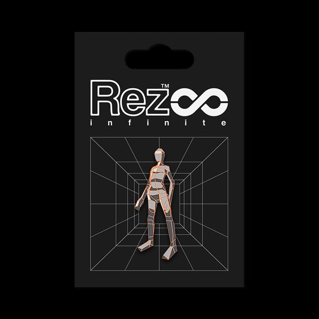 【Rez Infinite】ピンバッジ(Level 03 Player Form) - 画像1