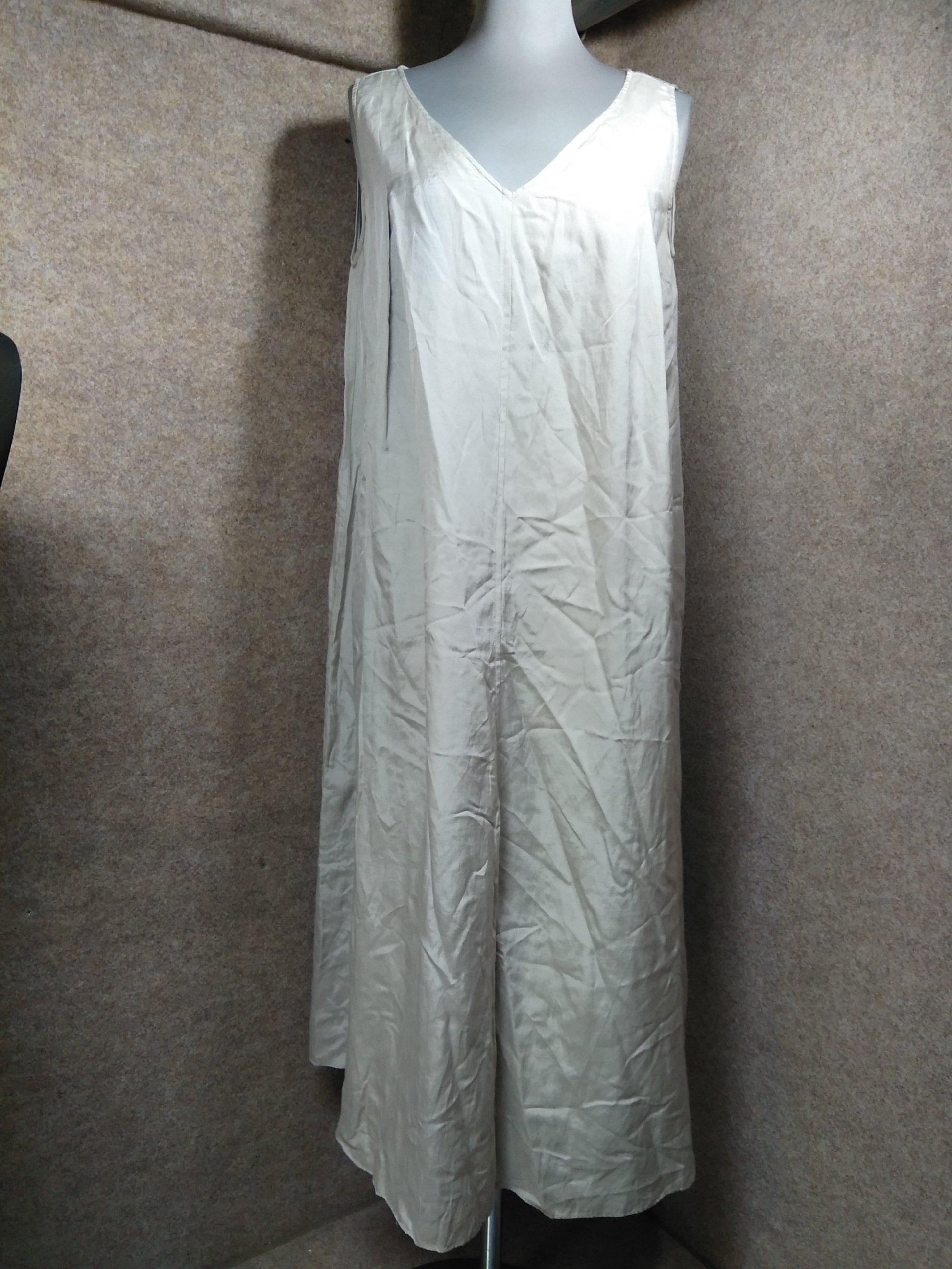 ネイ NEI アバハウス ワンピース 綿/絹 ライトグレー u 1301j