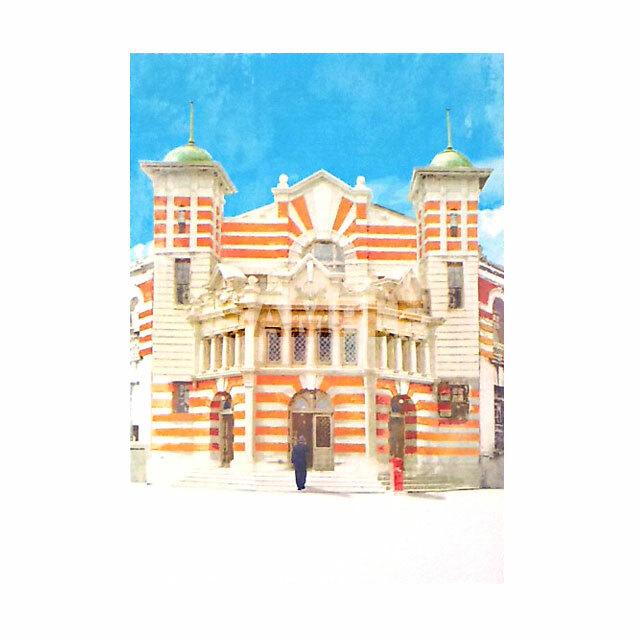 台湾ポストカード 地方小風景 「1909 台南郵便局」