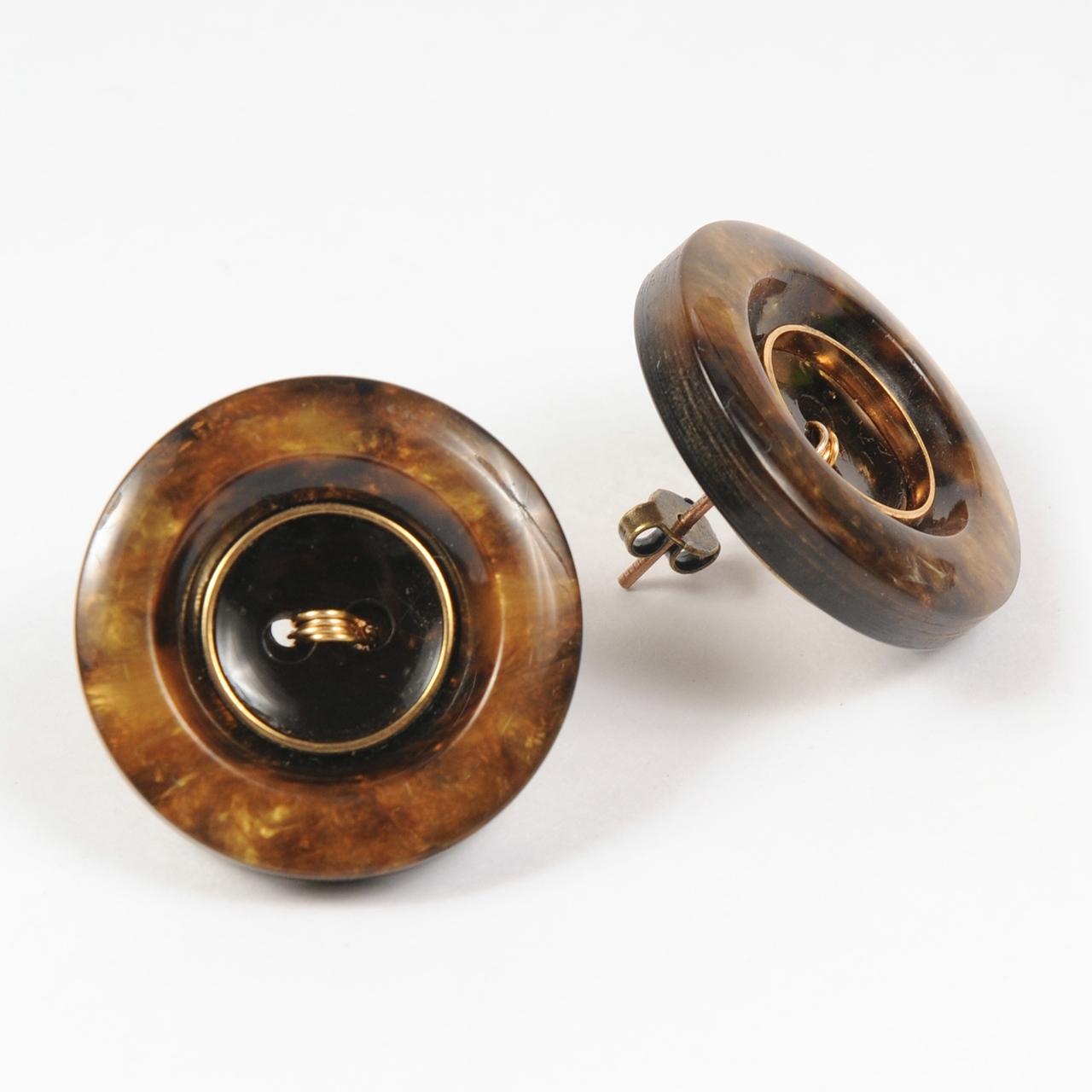 df20SS-J02 VINTAGE BOTTON PIERCE - brown