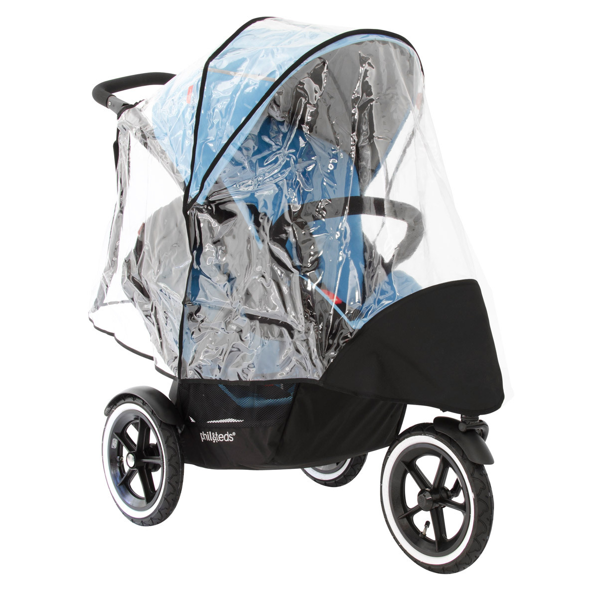 phil&teds sport buggy double storm cover フィルアンドテッズ レインカバー