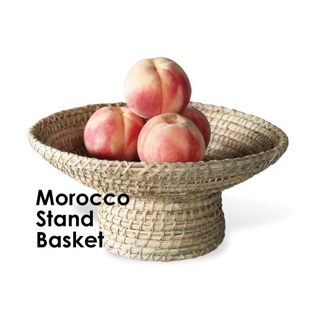モロッコの脚付き平かご