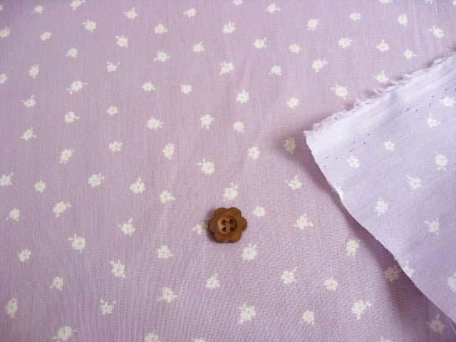 綿プリント小花柄(織物) ライラック CTP-0011