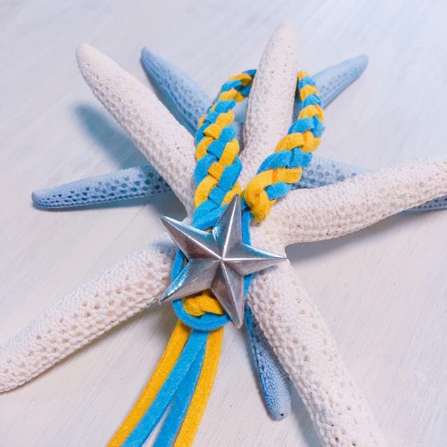 Star concho bracelet (Blue × Yellow)