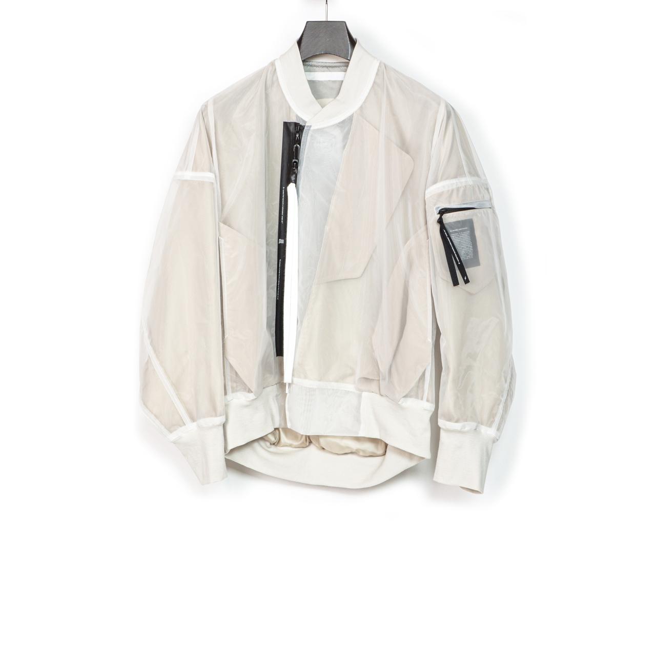 700BLM3-WHITE / Jesse Draxler バックプリントボンバージャケット