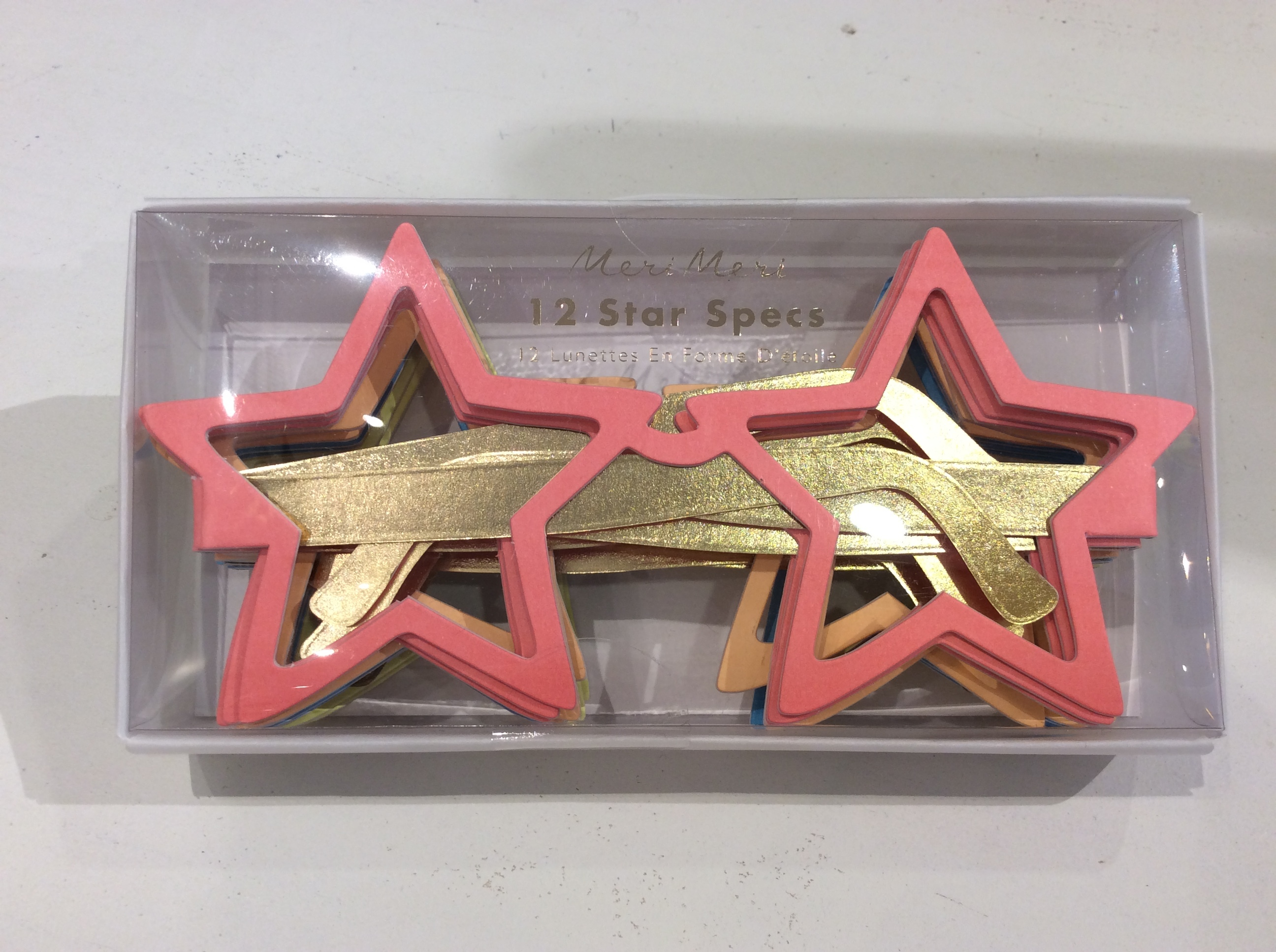 【meri meri】 星型ペーパーメガネ 12個セット