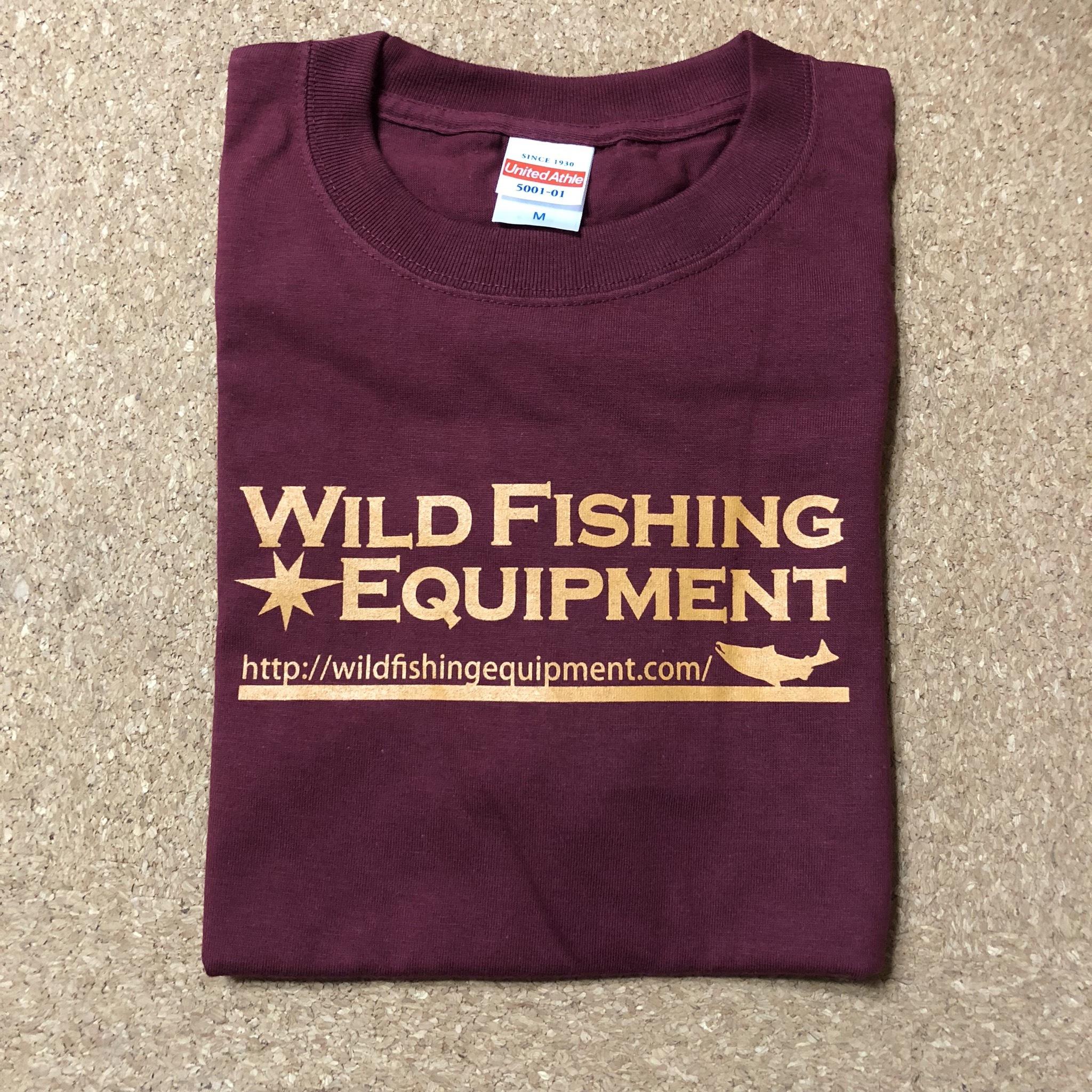 WildfishingequipmentオリジナルTシャツ【バーガンディ】