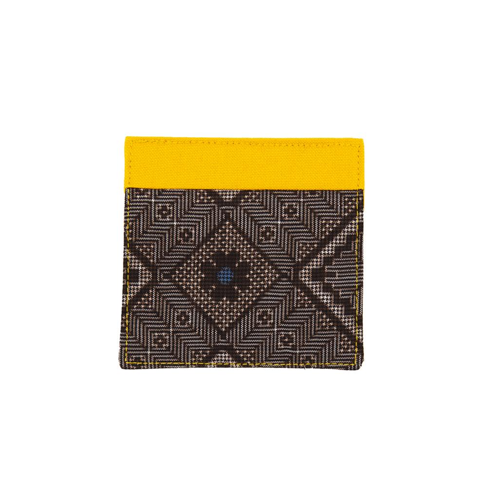 大島紬のコースター | 黄色