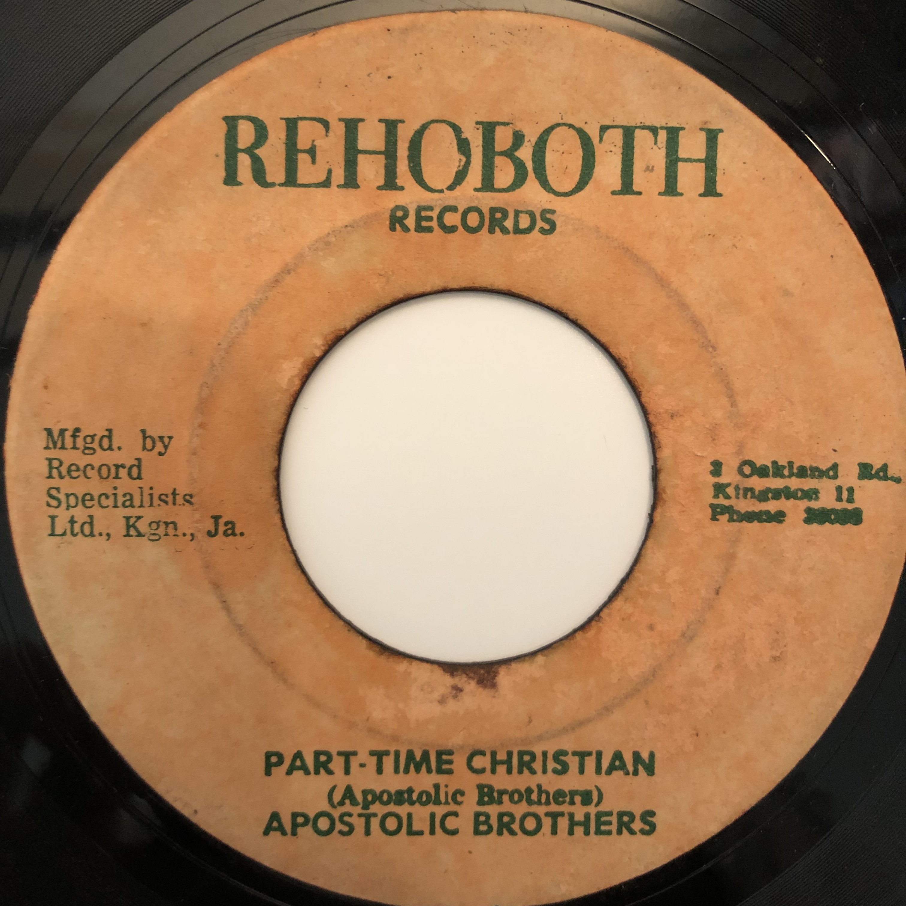 Apostolic Brothers ‎- Part-Time Christian【7-20290】