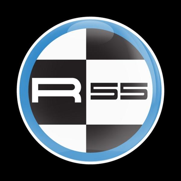 ゴーバッジ(ドーム)(CD0400 - MINI R55 BLUE) - 画像1