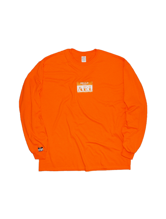 LOGO PATCH L/S TEE orange