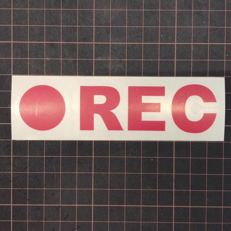 ドライブレコーダーステッカー(中) ● REC  赤ステッカー 1枚『送料無料』