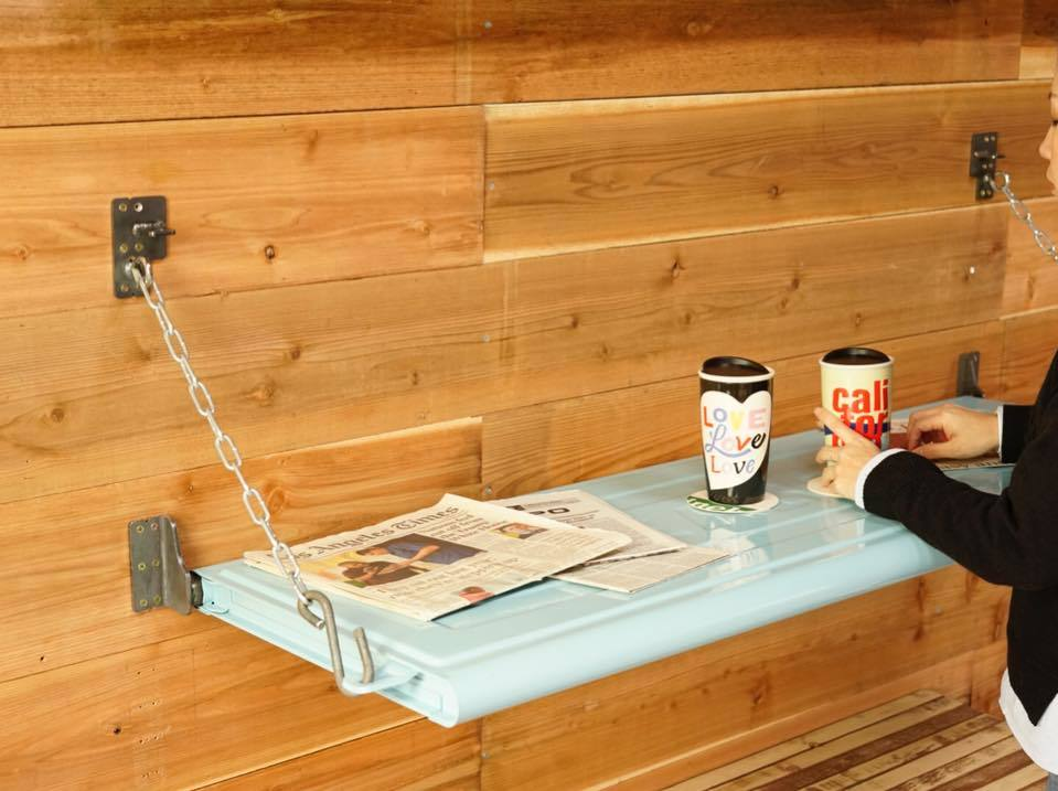 POMONA 壁付けテーブル テールゲートウォールテーブル バーカウンターに  Painted