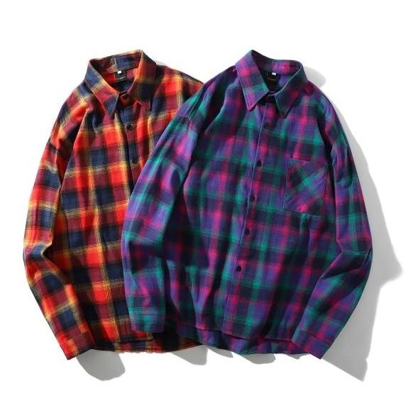 【UNISEX】フランネルシャツ【2colors】UN-076