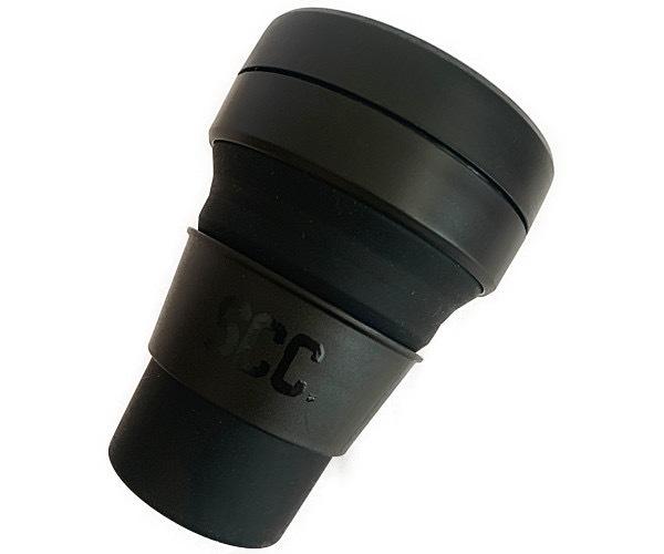 折りたたみポケットカップ 耐熱シリコンゴム  355ml ステルスBLACK×BLACK