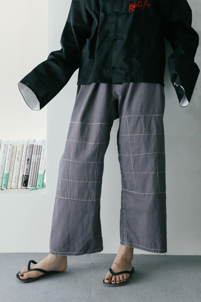 Over-dyed Cotton Martial Arts Pants