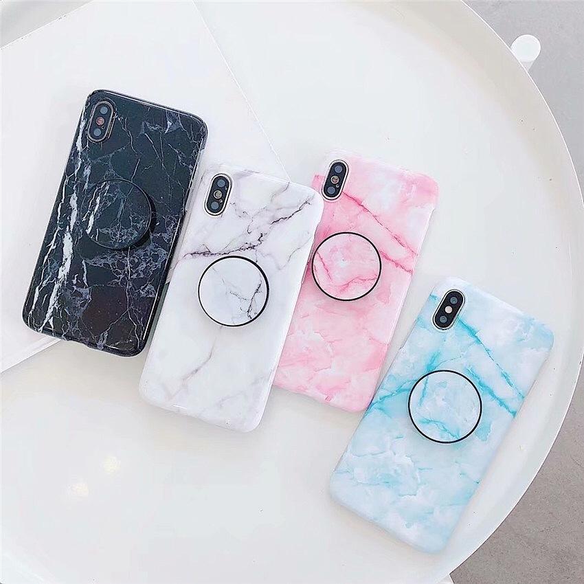 大理石 ハンドフック iPhone case
