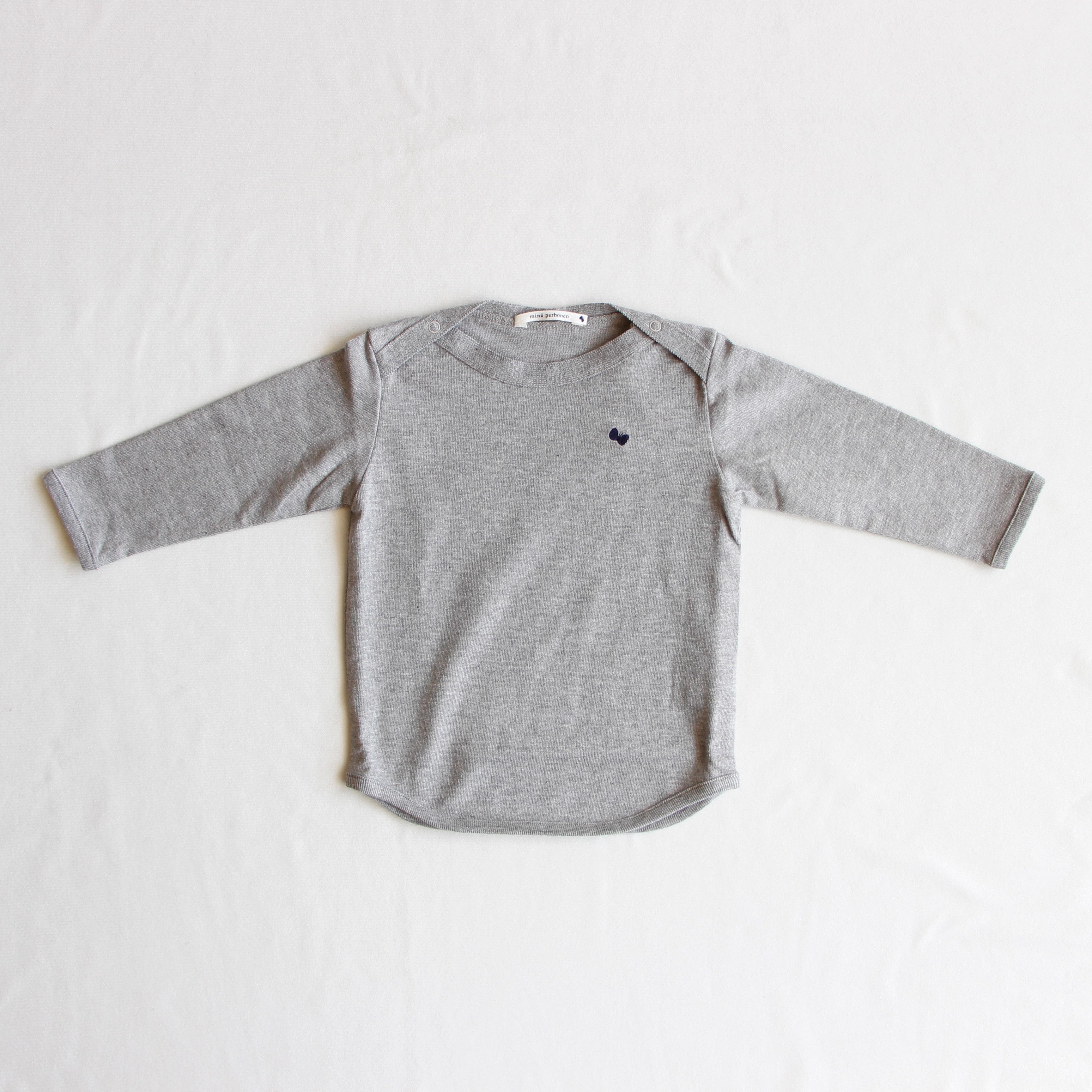 《mina perhonen 2018AW》zutto 長袖カットソー / gray / 110cm