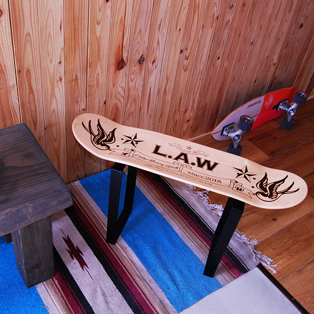 Original Ordermade Burning skateboard chair