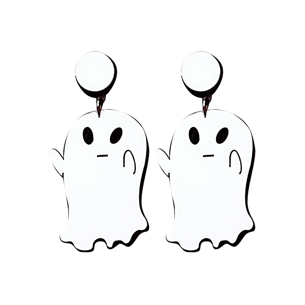 IUHA 【ユニークシリーズ】幽霊のデザイン 可愛いピアス 耳飾り パーティー    iuha1991710003
