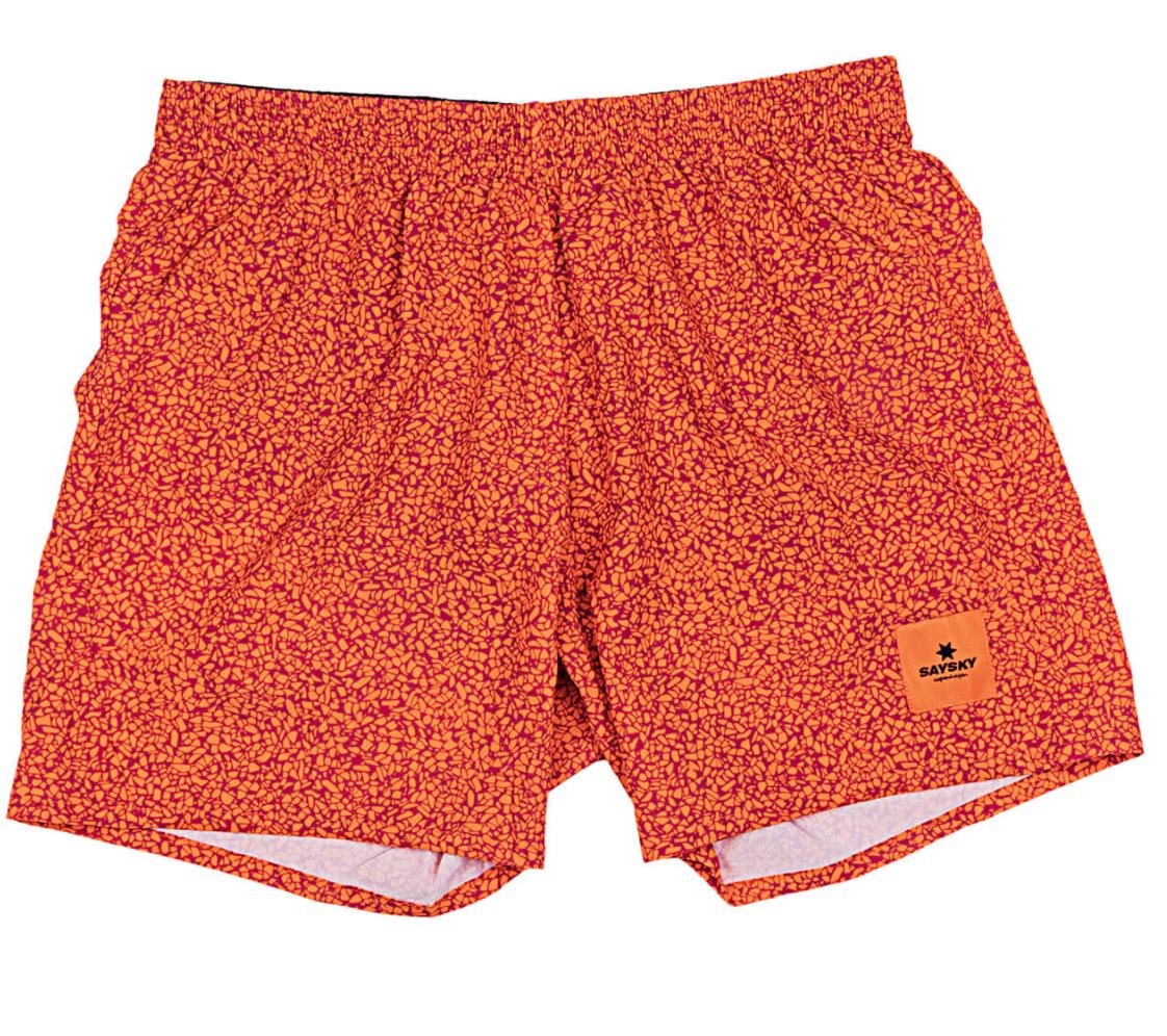 【10%OFF】SAYSKY  ランニングショーツ Terazzo Pace Shorts - RED CLAY TERAZZO PRINT [ユニセックス] FMRSH13