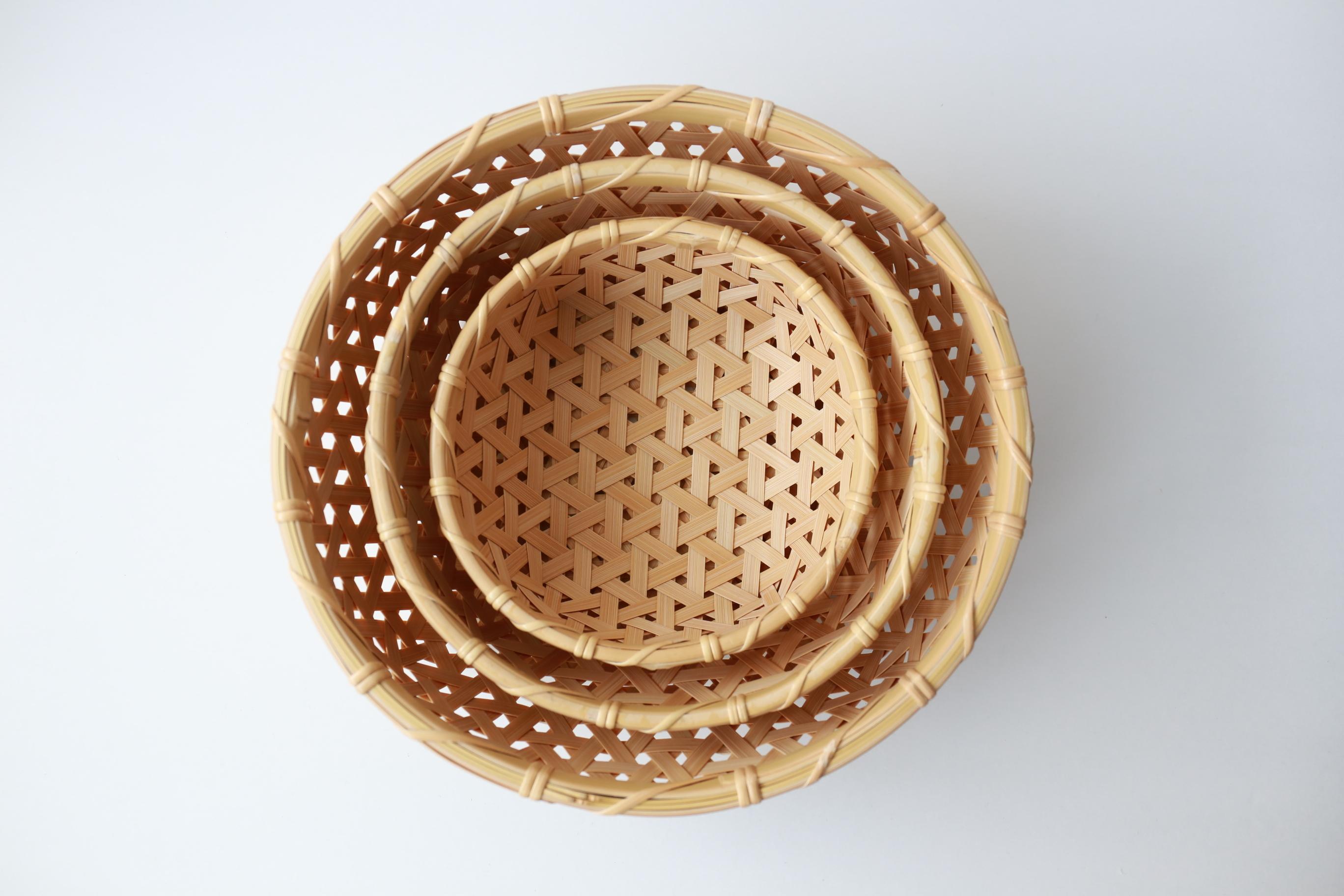 けはれ竹工房 果菜盛りカゴ 大