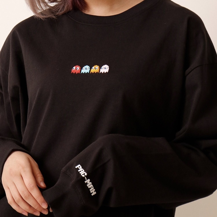 PAC-MANゴースト刺繍ロンT NO0715011