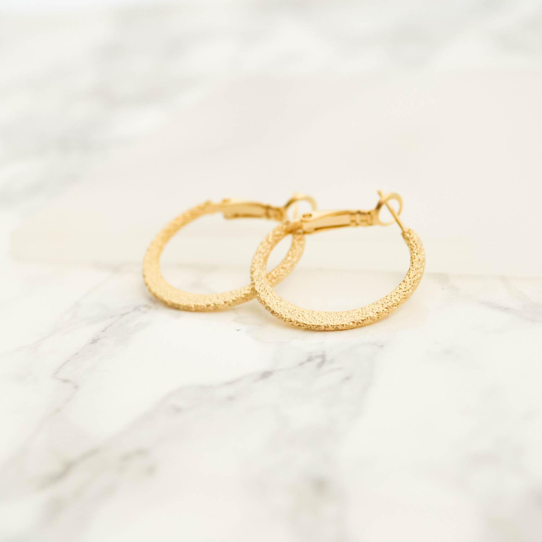 Stardust Hoop Pierces(gold)2.5cm