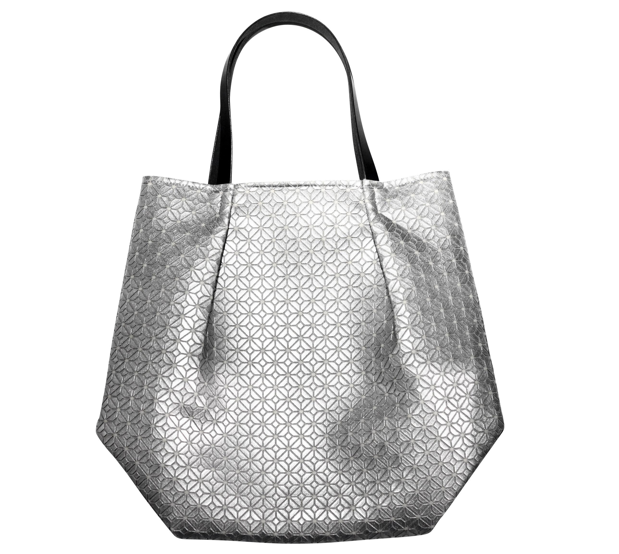 COMMON tote Bag / SILVER WHITE
