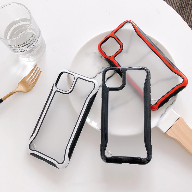 【お取り寄せ商品、送料無料】3カラー クリア 透明 耐衝撃 ハード iPhoneケース iPhone11