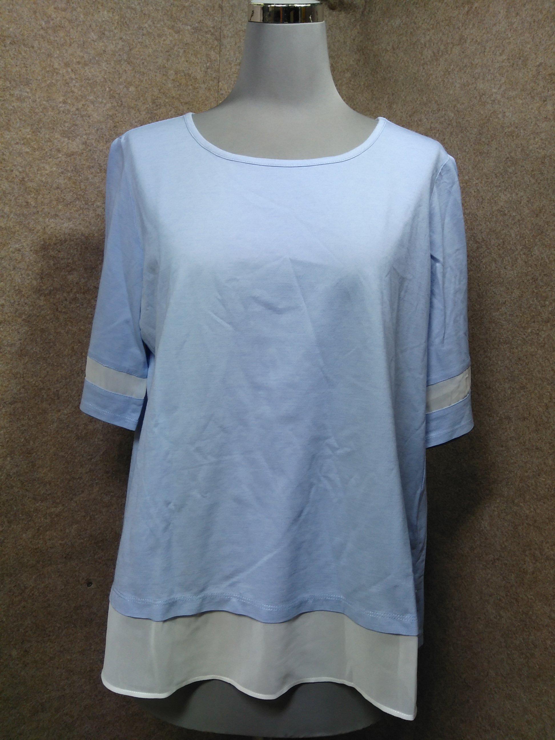 INDIVI インディヴィ Tシャツ カットソー 38 水色 mu477s