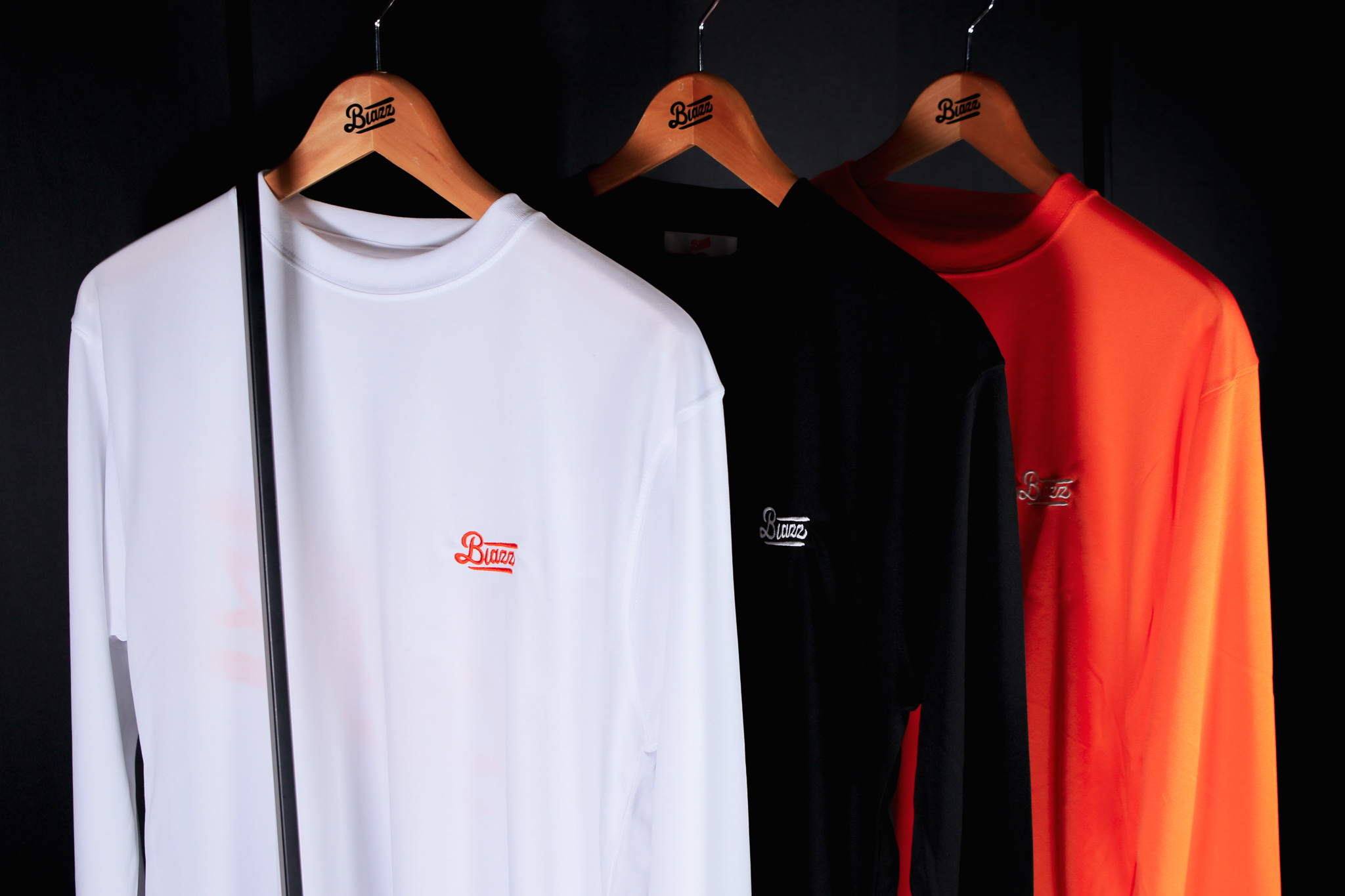 blazz sports L/S DRY TEE 2020 [ WHITE / RED ]