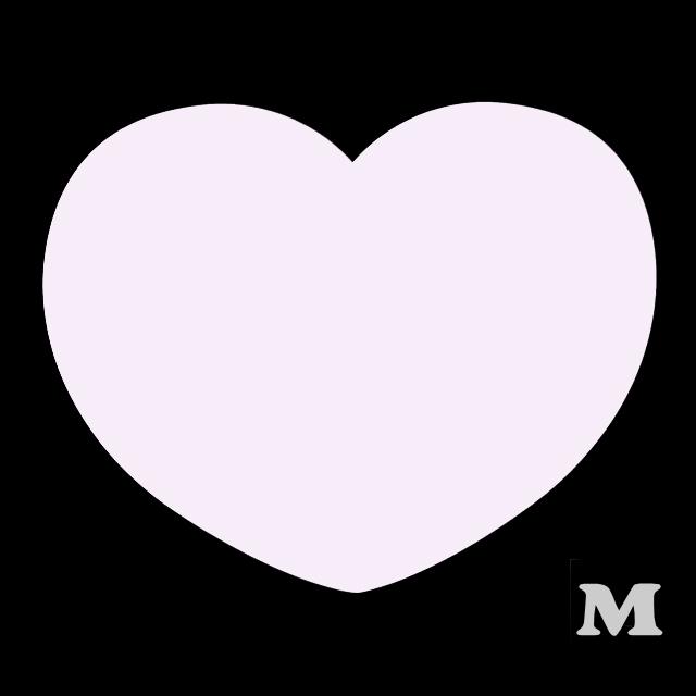 ハート型A(M)★ライトピンク