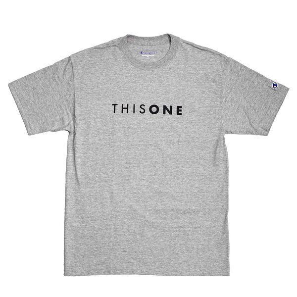 THISONE BASIC LOGO TEE (H•GREY)