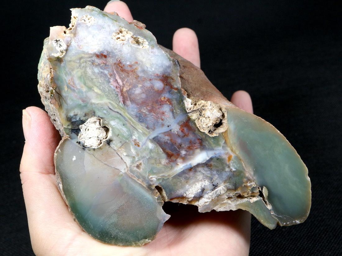 大きい!希少!パープル カウ アゲート 原石 オレゴン州産 644,7g 鉱物 AG109 天然石 パワーストーン